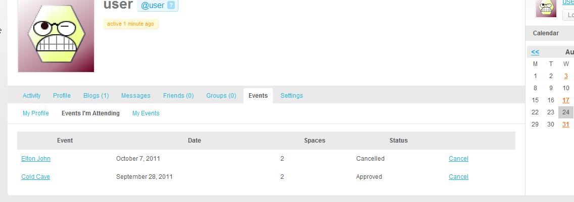 Buddypress Setup - Events Manager for WordPress