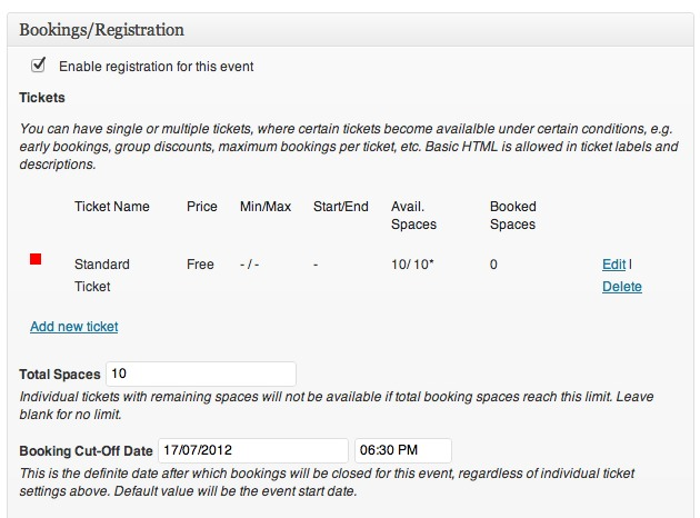 the registration meta box