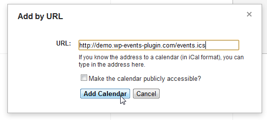 Using the iCal Feeds - Events Manager for WordPress