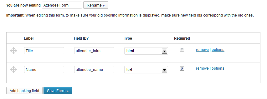 how to add an attendee form events manager for wordpress