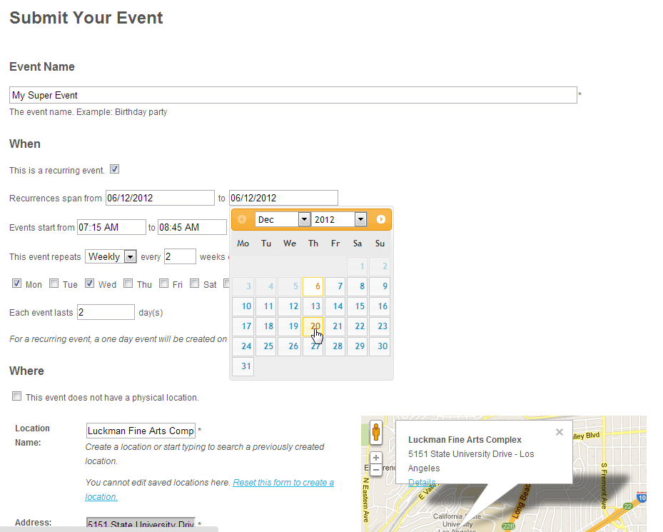 Events Manager for WordPress - Event Registration, Bookings