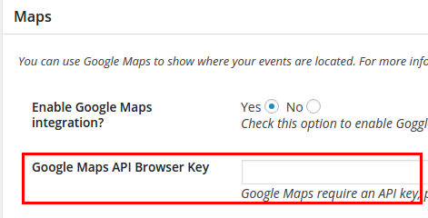 Setting Up Google Maps Api Keys And Libraries Events Manager For